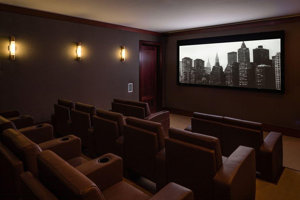21 seat screening room