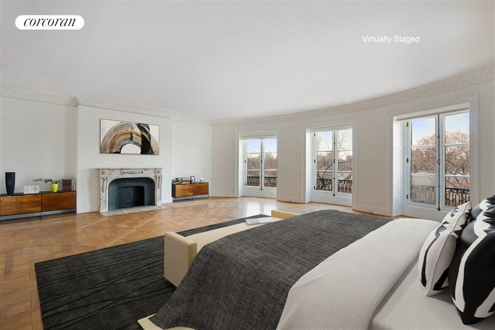 Bedroom with Central Park views