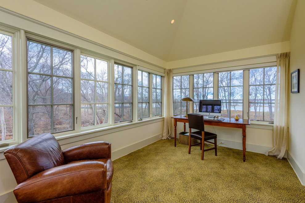Master suite private office with views