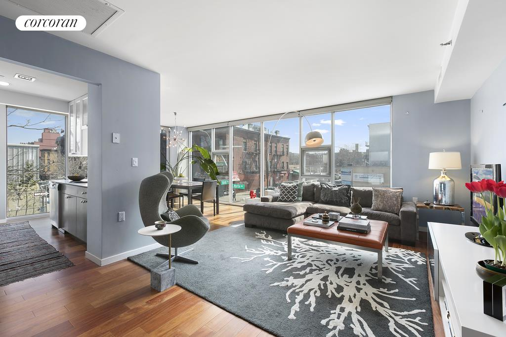 609 Myrtle Avenue, 2C, Living Room