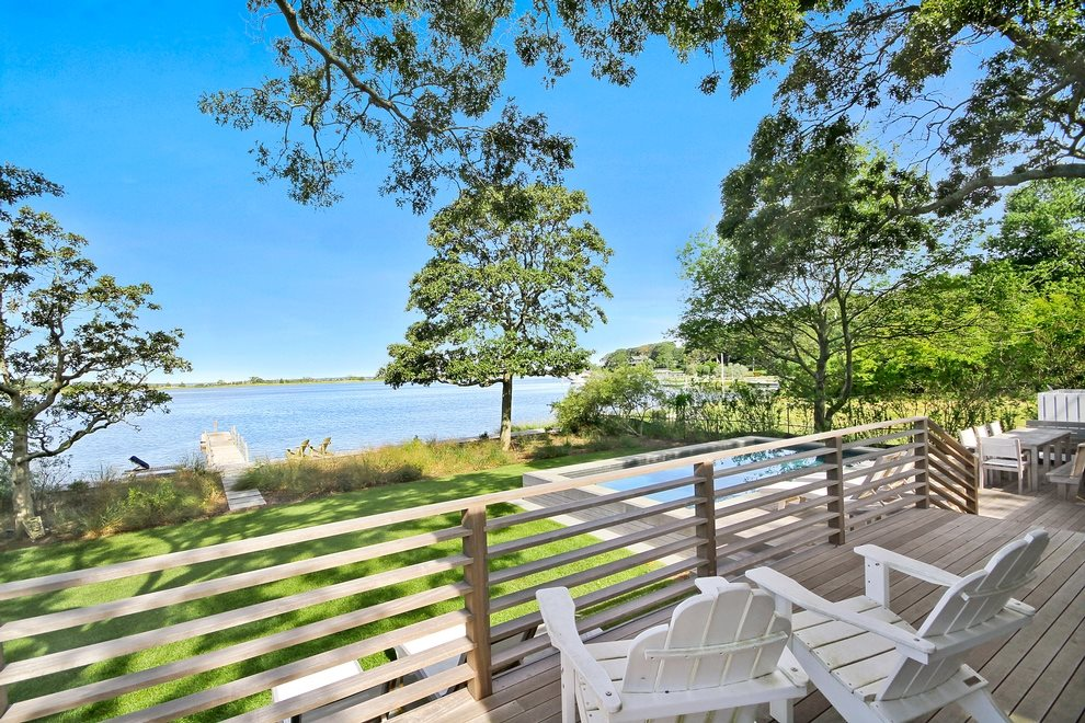 gorgeous views overlooking the pool, the dock and the cove