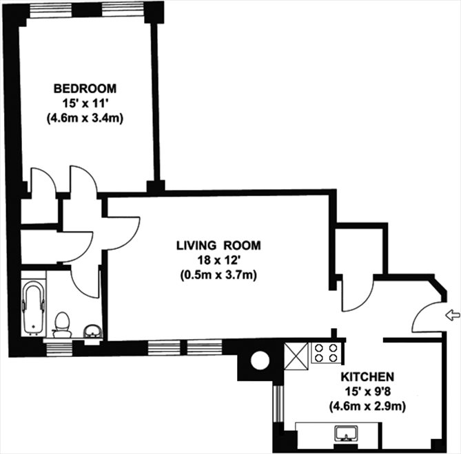 New York City Real Estate | View 15 West 11th Street, #8A | Floorplan