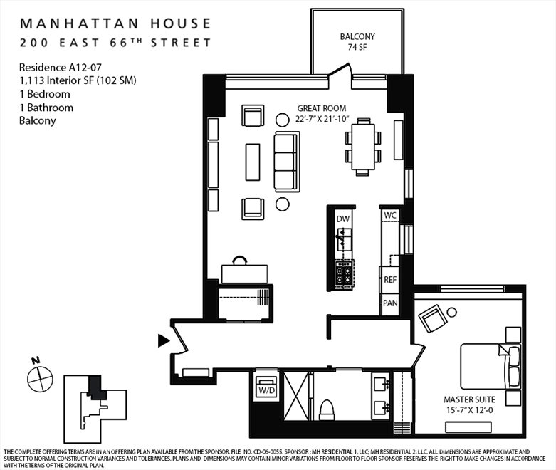 New York City Real Estate | View 200 East 66th Street, #A12-07 | Floorplan