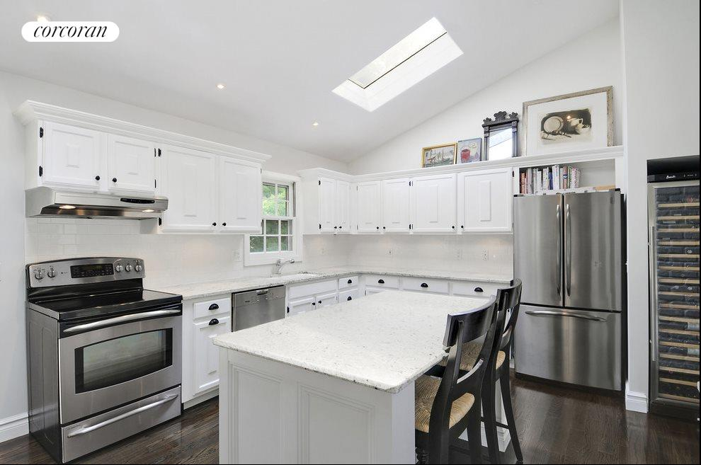 It's recently renovated, with wine refrigerator