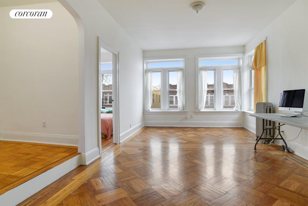 Huge master bedroom with walk in closet + office