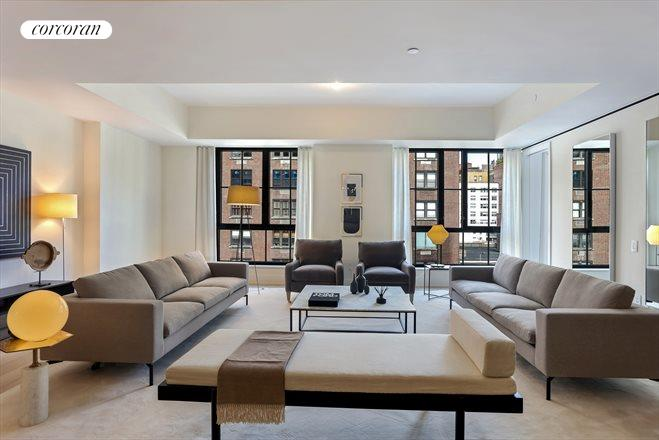 Corcoran 60 east 86th street apt 9th floor upper east for Living room 86th st