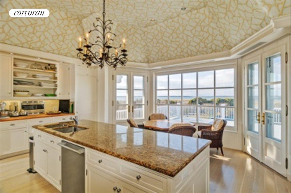 Eat-In Kitchen With Casual Dining Deck And Bayviews