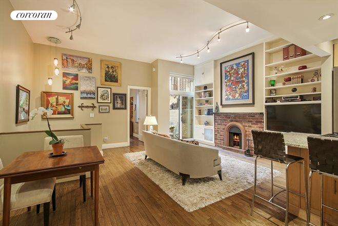 237 East 12th Street, B, Living Room with Wood-burning Fireplace!