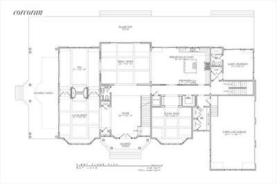 The Hamptons Real Estate | View 178 Bay Lane | First Floor Plan