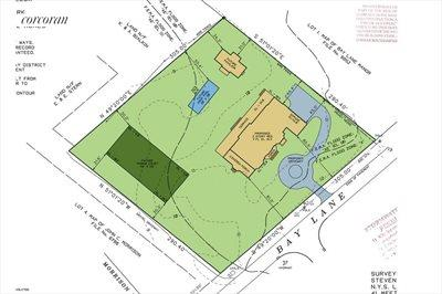 The Hamptons Real Estate | View 178 Bay Lane | Survey / Site Plan