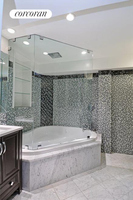 Spa-Like Bathroom, Jacuzzi Tub & Marble Floors