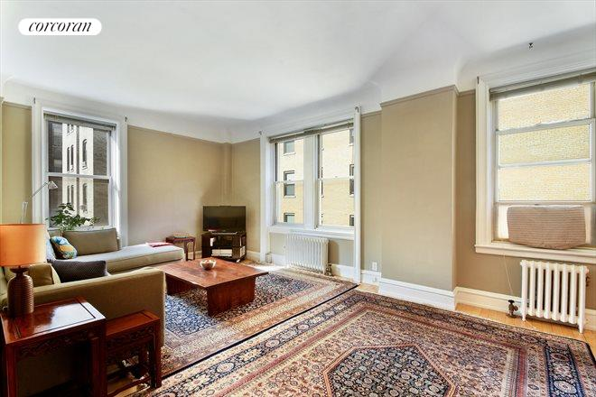 Living Room 86th Street corcoran, 161 west 86th street, apt. 7dd, upper west side real