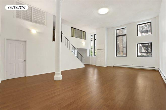 309 East 108th Street, 1E, Soaring 14' Ceilings and Oversized Windows