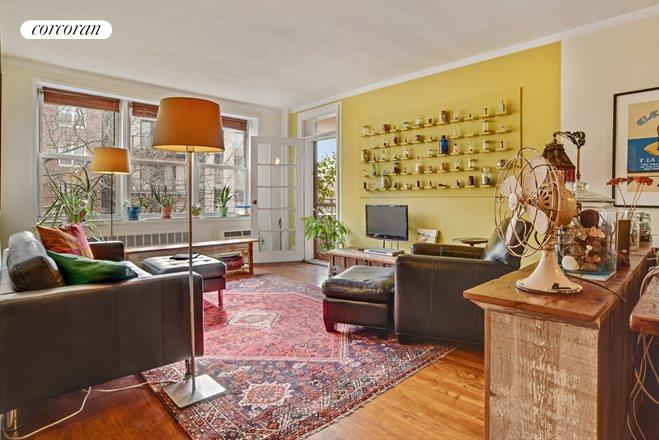 616 East 18th Street, 4E, Double Sized Living Room With Access To Terrace