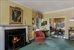 201 East 62nd Street, 18D, Living Room with wood burning fireplace