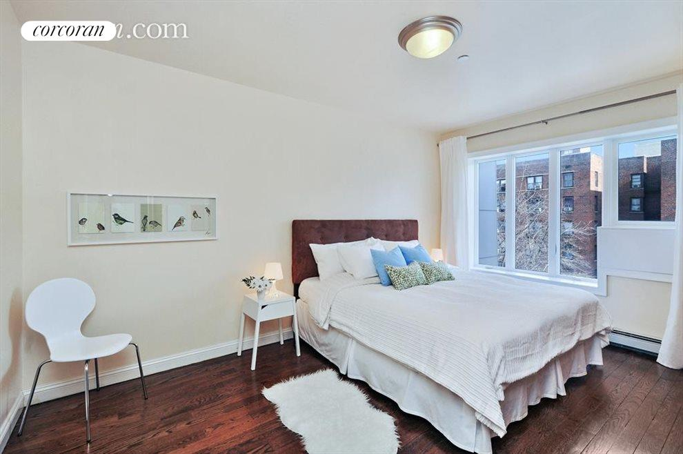 Master bedroom suite with double walk-in closets