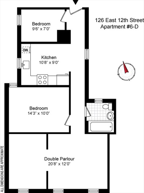 New York City Real Estate | View 126 East 12th Street, #6D | Floorplan