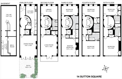 New York City Real Estate | View 14 Sutton Square | Floorplan