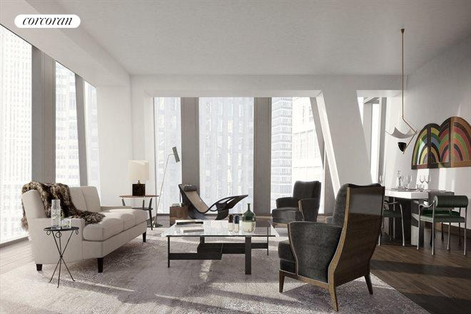 53 West 53rd Street, 28B, Living Room