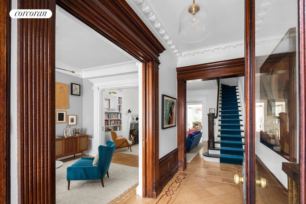 New York City Real Estate | View 586 4th Street | Artisan details, dbl pocket doors + airy entry