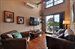 39 Powers Street, 3B, Living Room, walnut floors, exposed brick / beams