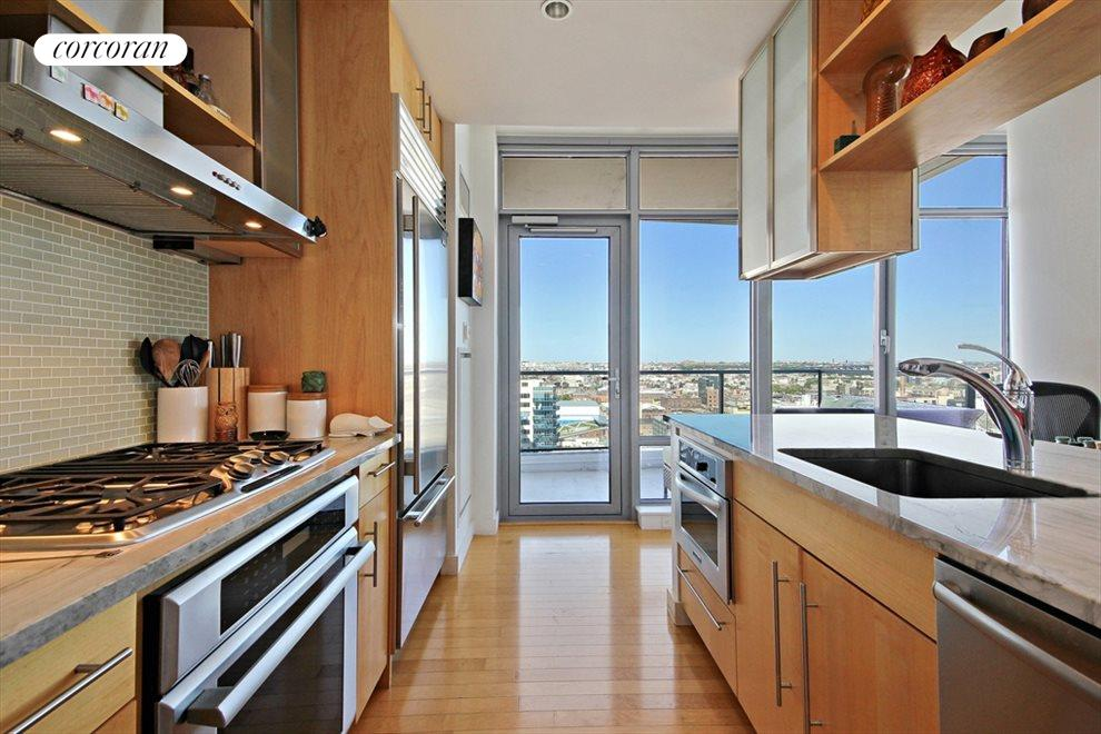 High end appliances and lots of counterspace