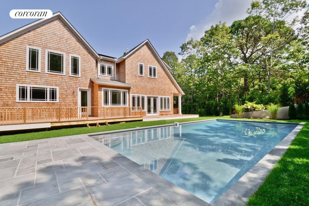 Gunite pool with bluestone patio