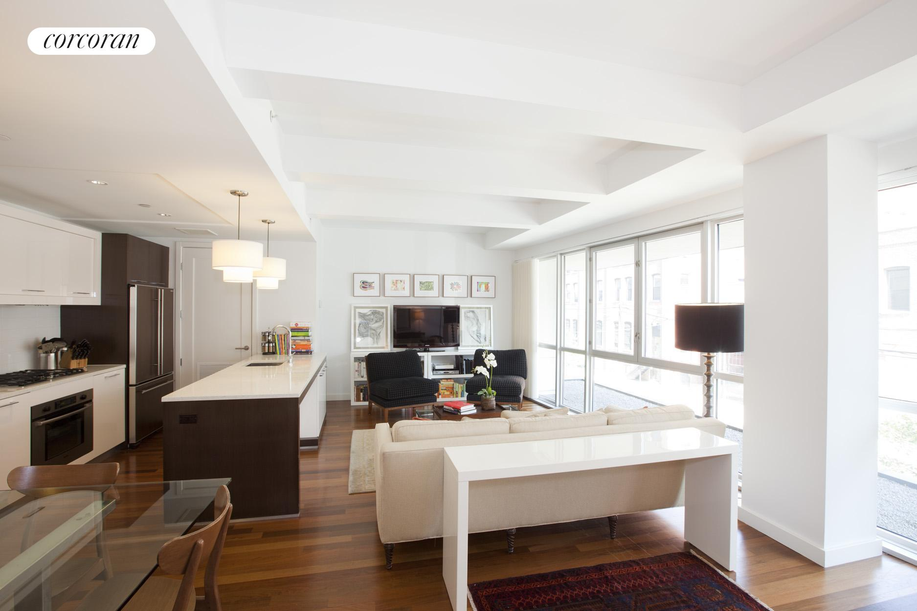 125 North 10th Street, N2B, Bright with a wall of floor-to-ceiling windows