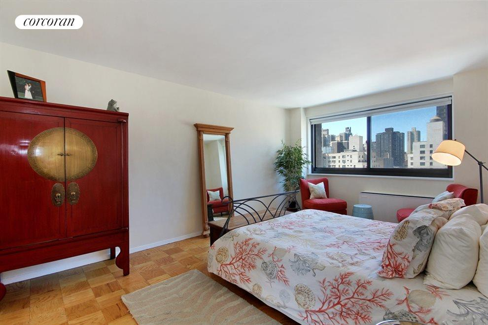 King Size Bedroom with Sunny Western Exposure