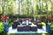 1290 Sagg Road, Outdoor living room with firepit