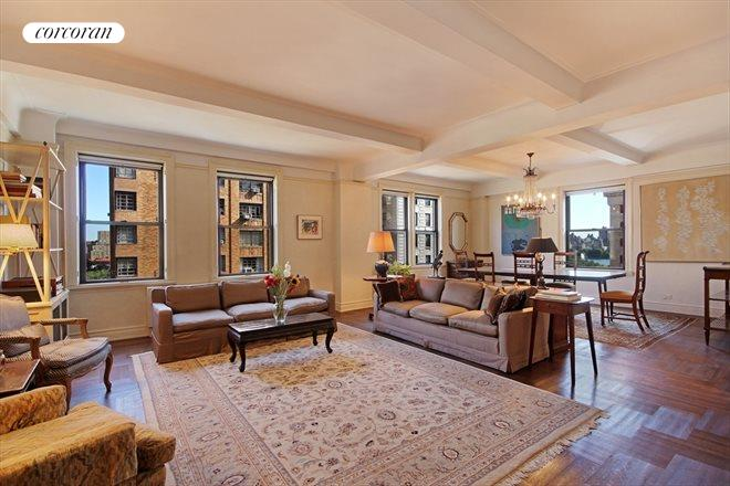 Corcoran 10 west 86th street apt 12a upper west side for Living room 86th street