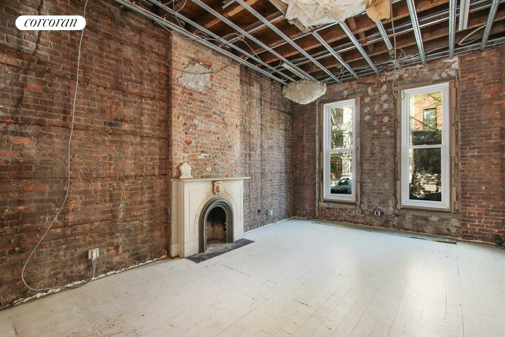 New York City Real Estate | View 22 Strong Place | Front parlor living room