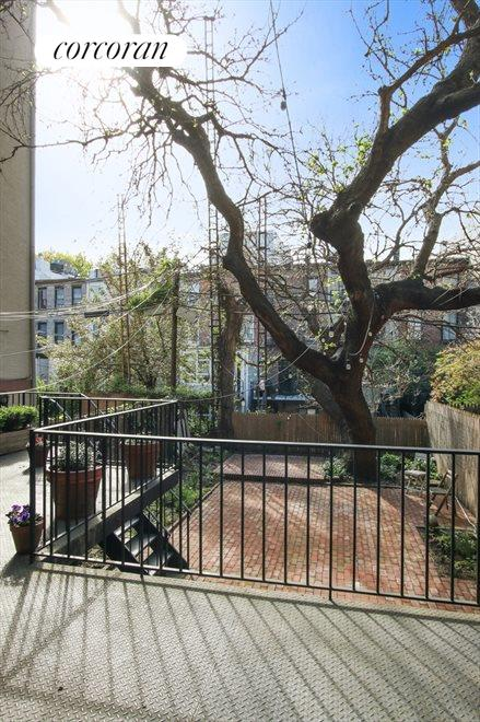 New York City Real Estate | View 22 Strong Place | Deck of rear parlor/kitchen