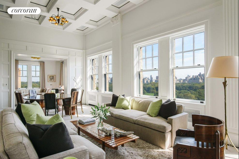 Living Room with views of Central Park
