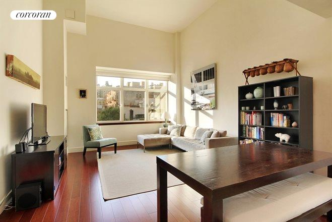 181 East 90th Street, 7E, Spacious Living Area with Soaring Ceilings!