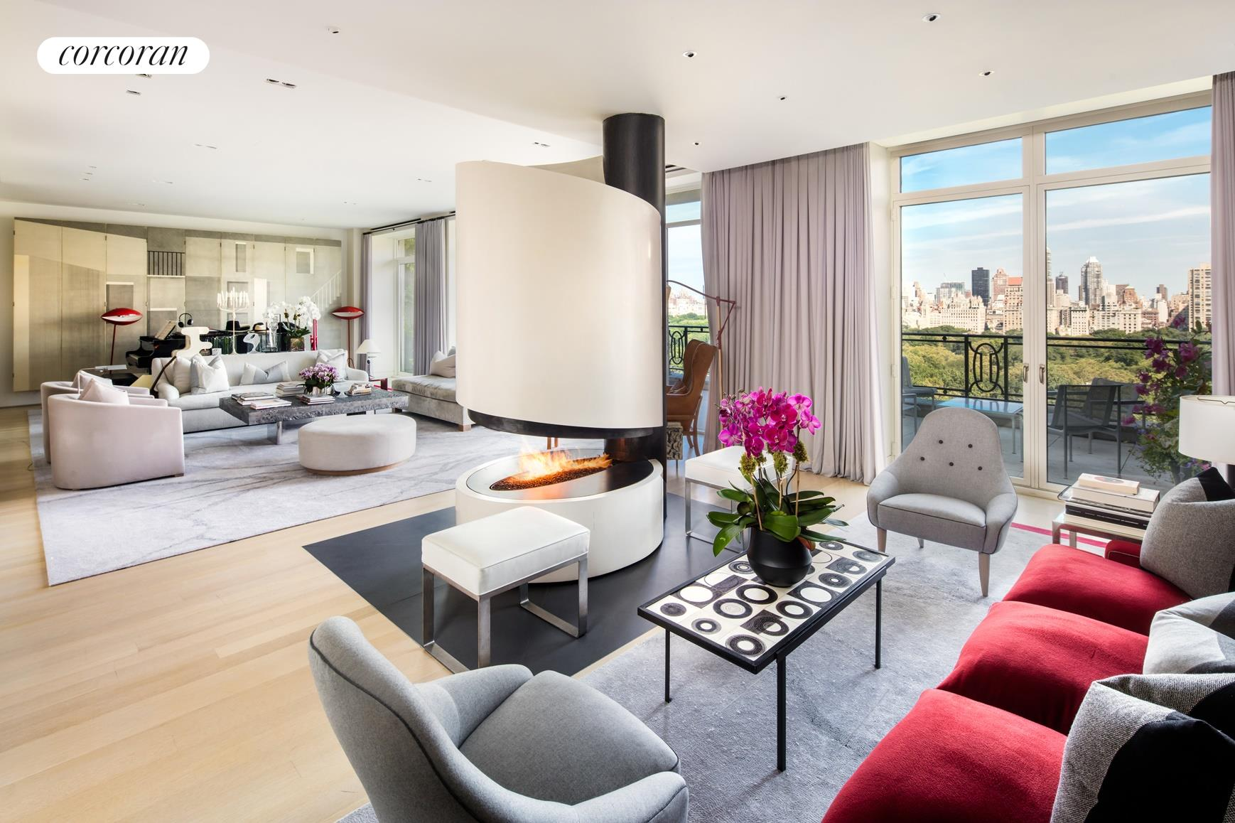 15 Central Park West, PH16/17B, Living Room