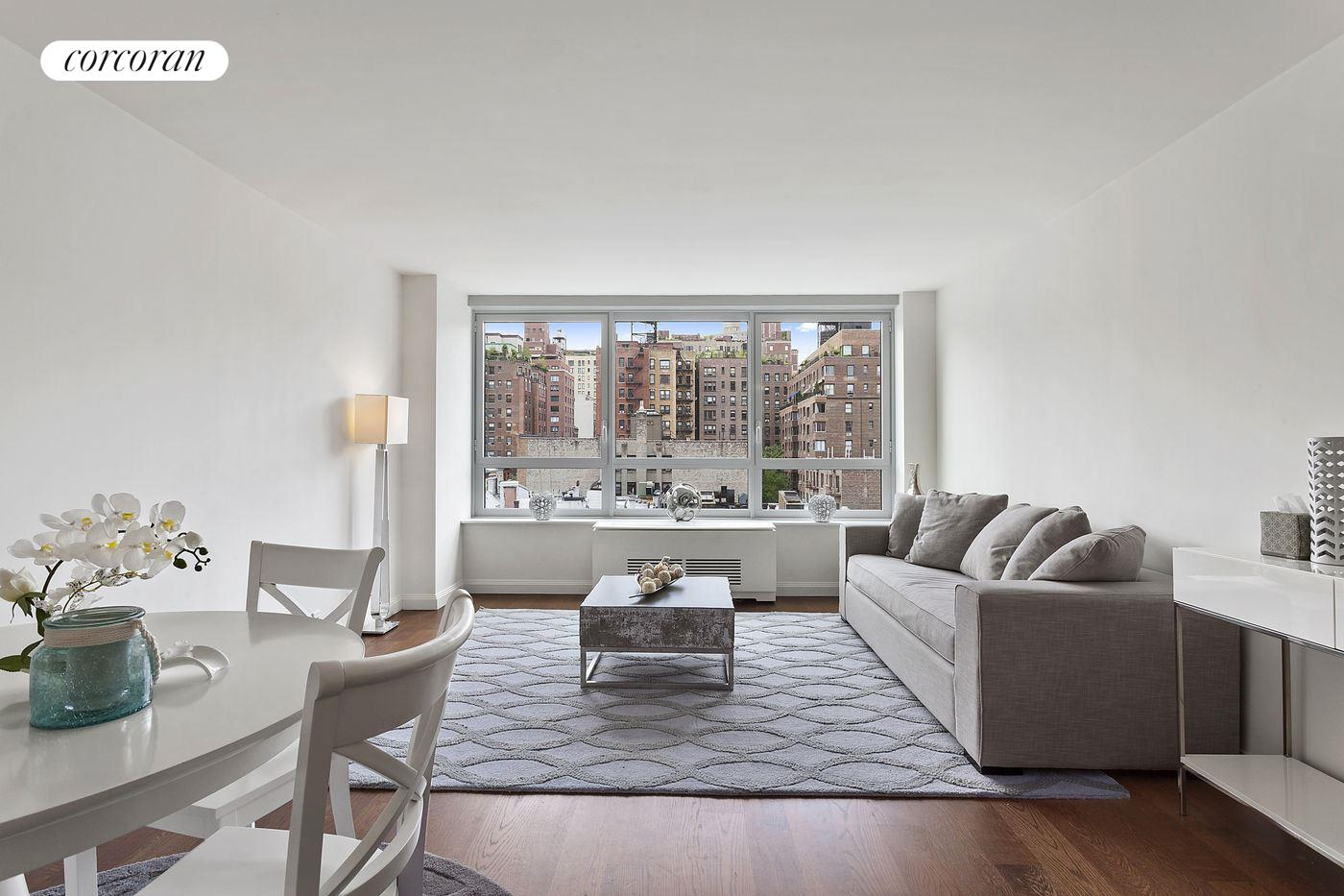 200 East 94th Street, 806, Spacious Living Room with Warm Western Exposure