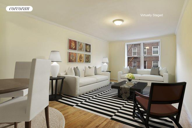 385 East 16th Street, 5B, Extra Deep Living Room W/ Room For Dining