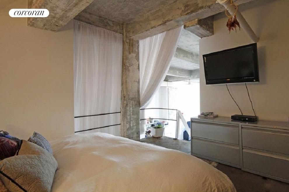 Bedroom set up in the Mezzanine