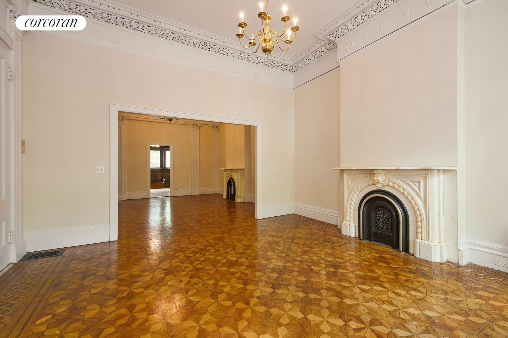 136 Amity Street, 2, Grand Living Room with Pre-War Details