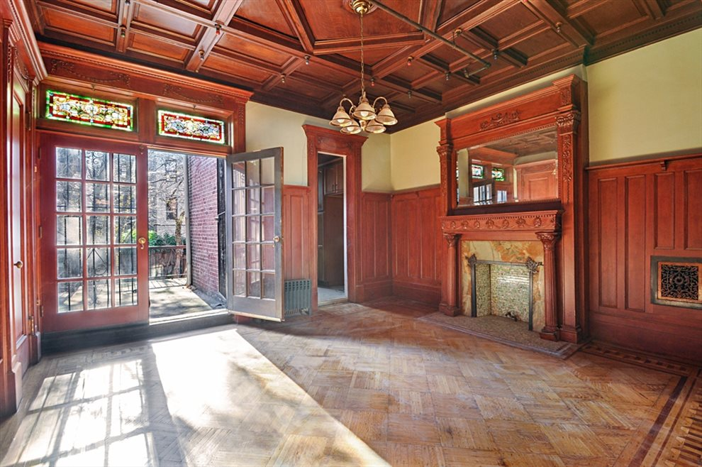 Formal dining room with historical details