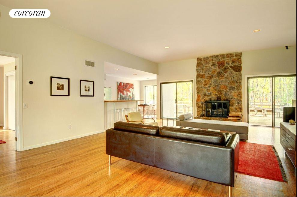 New York City Real Estate | View 18 Shorewood Drive | Fourth view of living space looking out onto large deck area