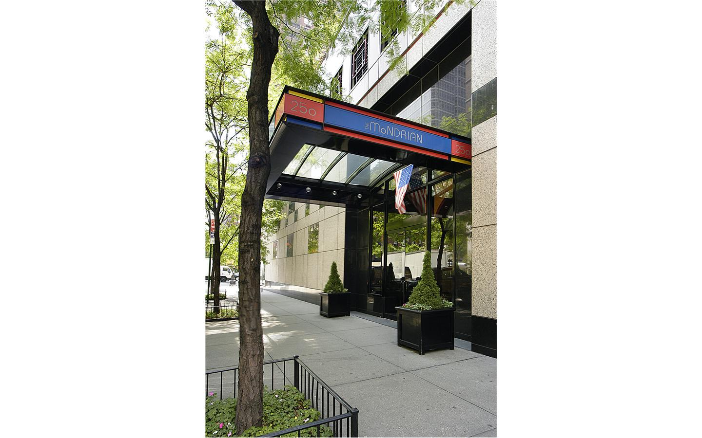 The Mondrian Condo Entrance - 250 East 54th Street
