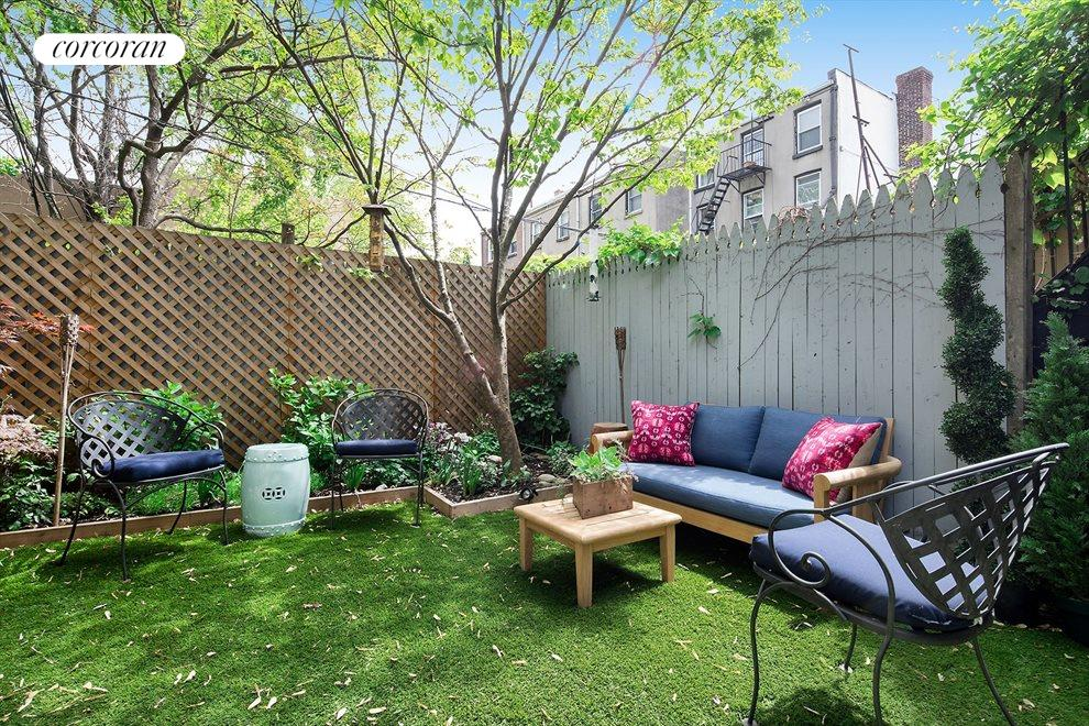 New York City Real Estate | View 233 Court Street, #1 | Tranquil private garden with Eastern light
