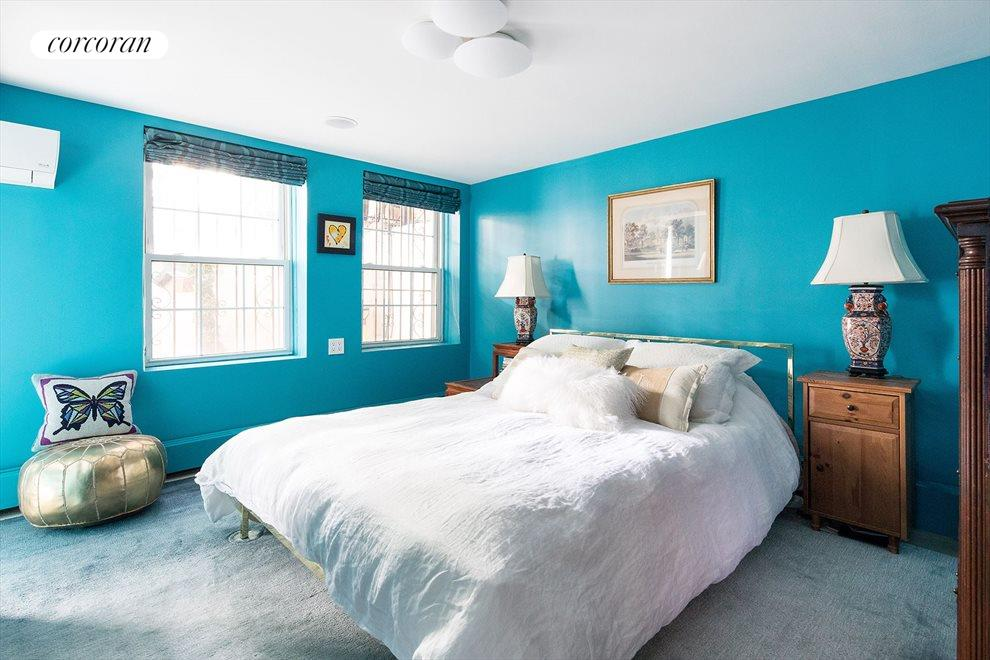 New York City Real Estate | View 233 Court Street, #1 | Lower level master suite with stairs up to garden