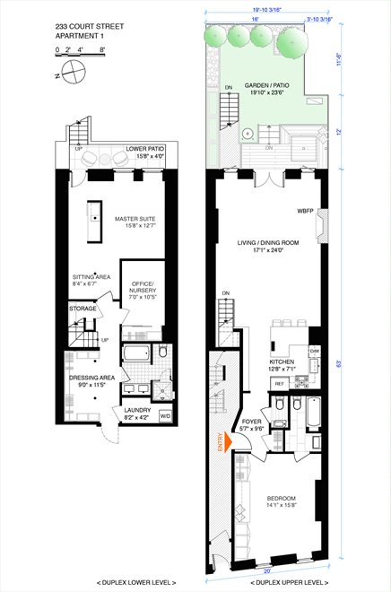 New York City Real Estate | View 233 Court Street, #1 | Floorplan