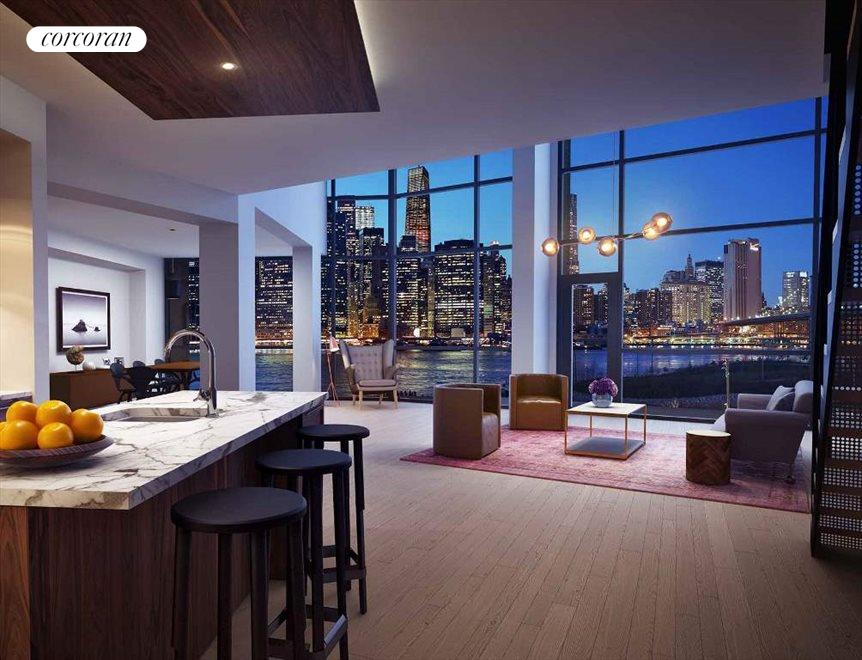 Stunning and Super Wide Living Room with Views