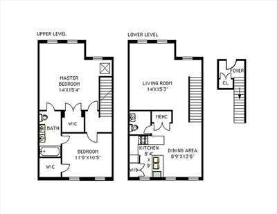 New York City Real Estate | View 345A Grand Avenue, #A | Floorplan