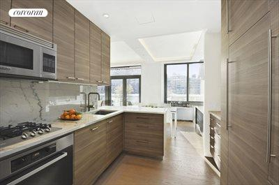 New York City Real Estate | View 225 West 60th Street, 6B | European Kitchen with Designer Appliances