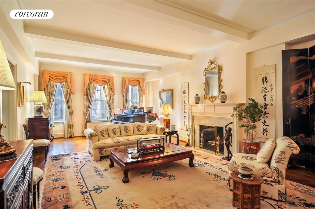 Corcoran 885 park avenue apt 5c upper east side real for Living room 86th st